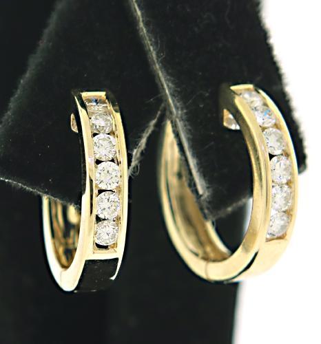 Flashy Channel Set Diamond Hoop Earrings