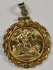 Superb Gem BU 1958 British Gold Sovereign in GF Bezel