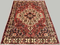 Charming Mid-20th C. Authentic Handmade Vintage Persian Ferahan