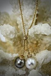 18K Black & White South Sea Pearl Necklace