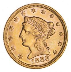 1888 $2.50 Liberty Head Gold Quarter Eagle