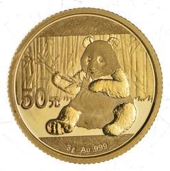 2017 China 50 Yuan 3 Grams Gold Panda