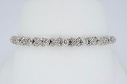Light Pink and White Diamond Tennis Bracelet