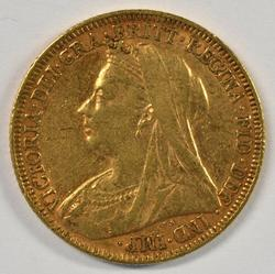 Lovely 1896 Veiled Head British Gold Sovereign