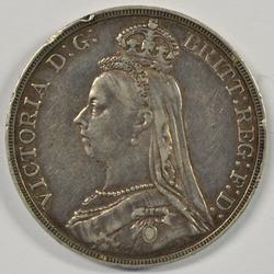 Great 1892 Great Britain Silver Crown in XF.