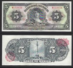 $5 Banco De Mexico Uncirculated