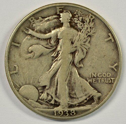 Scarcer 1938-D Walking Liberty Half Dollar