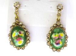 1960s Enamel Earrings