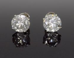 Certified 5.02CTW Diamond Stud Earrings