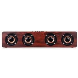 Multifunctional 14W Wood Sound Grain Speaker