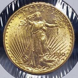Uncirculated 1910-D $20 Saint Double Eagle