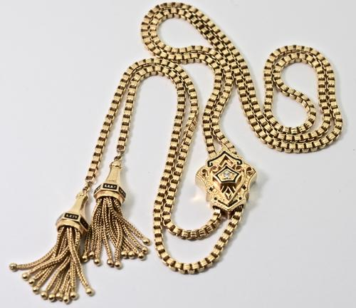 Superb 14K Slide Necklace