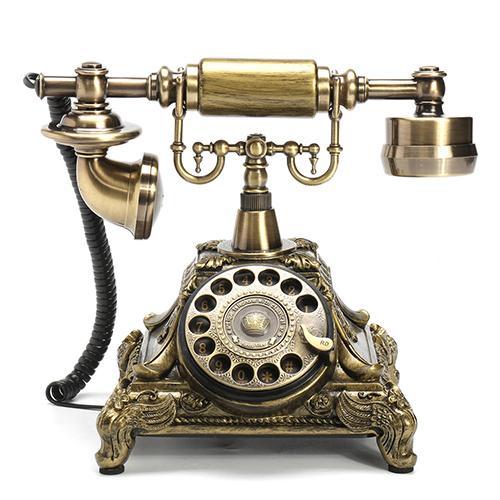 Retro Vintage Push Button Ceramic Antique Telephone