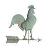 White hall Decorative Copper Rooster Weathervane - Verdigris