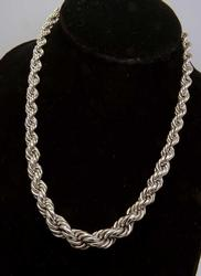 Thick Sterling Silver Rope Chain, 16 inches