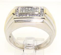 Gent's 2 Tone Invs Set Diamond Ring