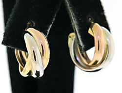 18kt Interlocking Circle Hoop Earrings