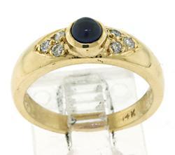 Pretty Cab Sapphire and Diamond Ring