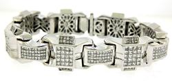 Gent's 20ctw Princess Cut Diamond Bracelet