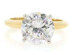 Shocking 3.52ct Round Brilliant Cut Diamond Ring