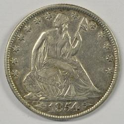 Very nice 1854-O with Arrows Seated Liberty Half Dollar