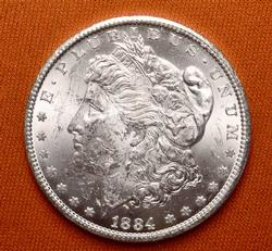 Choice BU 1884-CC Morgan Silver Dollar