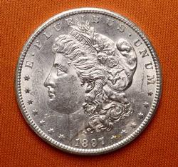 1897-S Morgan Silver Dollar, BU