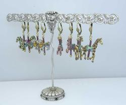 Carousel Animal Earrings and Trellis Display Set