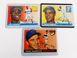 3 Topps 1955 Baseball Cards