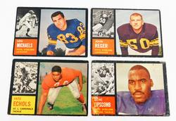 4 Topps 1962 Football Cards