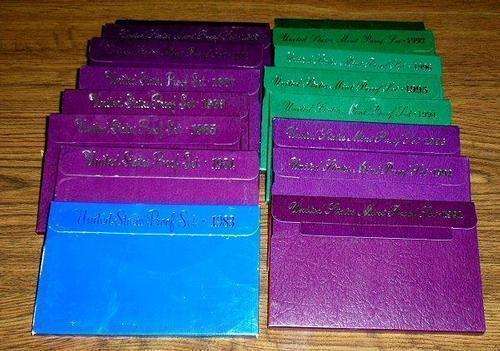 Run of 16 Different US Proof Sets: 1983-1998