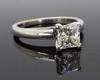 Princess Cut Leo Diamond Solitaire Engagement Ring