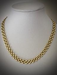 Popular 14K Panther Link Necklace