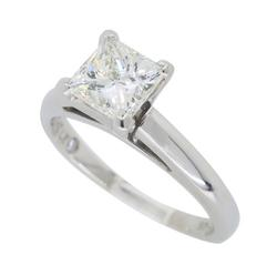 Princess Cut Leo Diamond Solitaire Engagement Ring