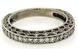 18kt Solid White Gold 2.0 Carat Diamond Band