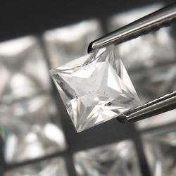 Outstanding 7.18ct diamond white Zircon set