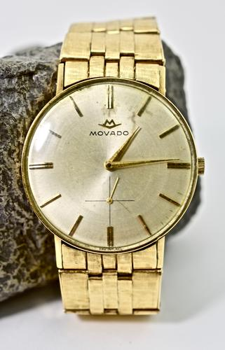 Men's 14k Movado with 14k Band