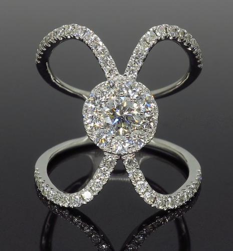 S Kashi Negative Space Diamond Ring