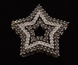 Black & White Diamond Star Pendant