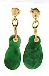 Simple Jade Dangle Earrings