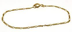 18kt Thin Figaro Chain Bracelet