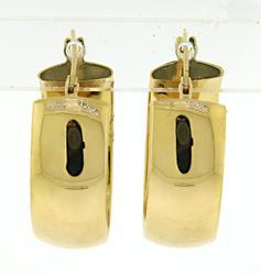 18kt Wide Hoop Earrings