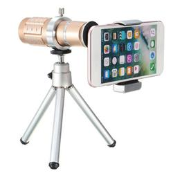 12X Telescope Lens with Mini Portable Tripod Phone Clip