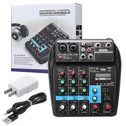 4 Channel USB Portable Mixer bluetooth Record Studio DJ