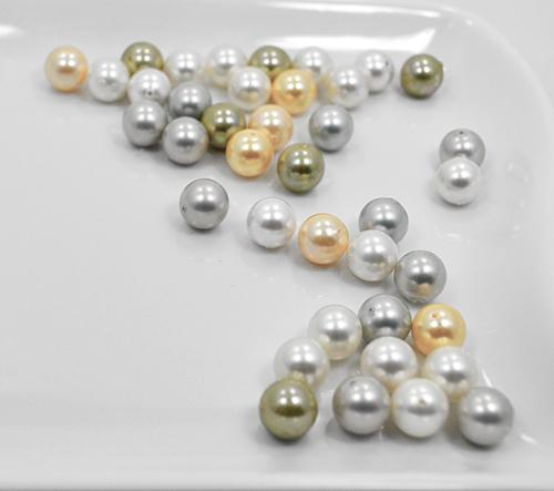Multi Color Shell Pearl, 39 Count 10mm Round Beads