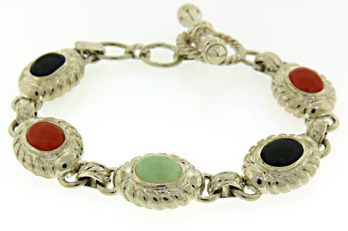 Pretty Multi Color Gemstone Bracelet