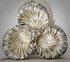 Elaborately Designed Antique Clam Shell Serving Dish