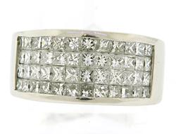 Princess Diamond Band in Platinum