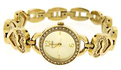 Guess Crystal Gold Tone Watch