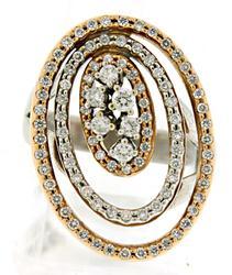18K VS DIAMOND HALO RING